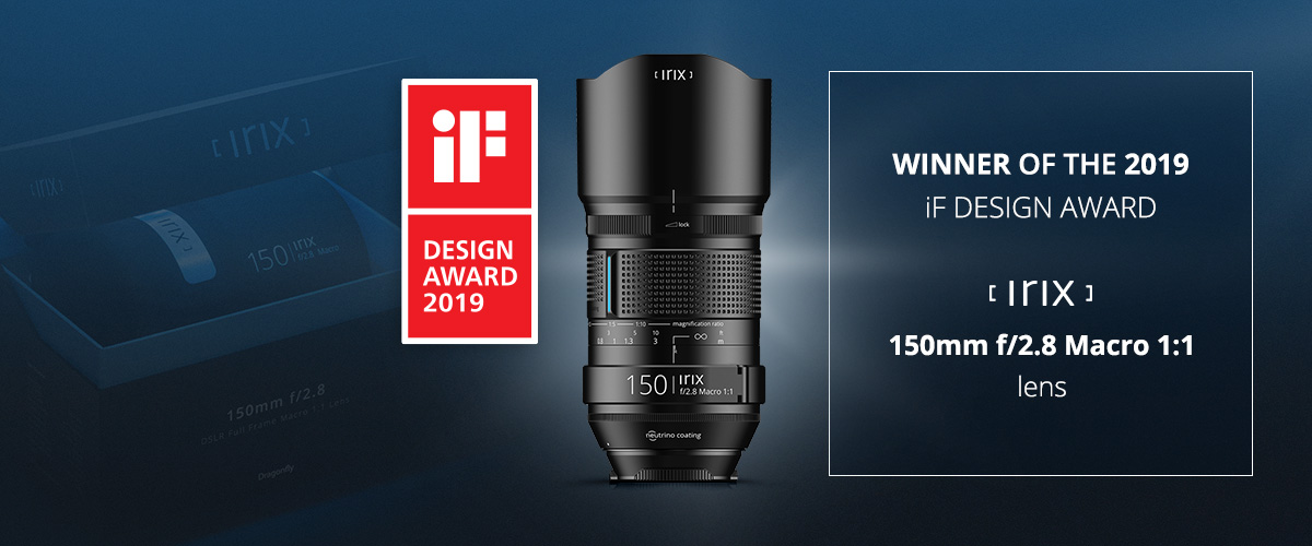 Irix 150 mm f/2.8 Macro az iF PRODUCT DESIGN AWARD nyertese
