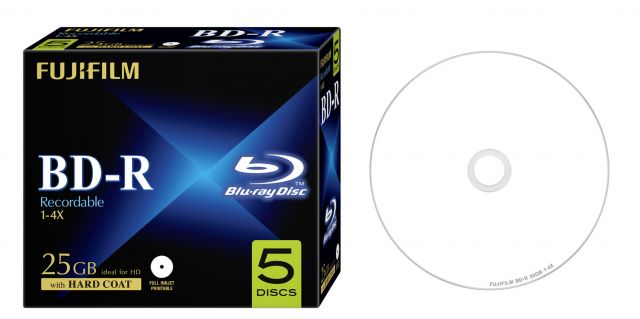 FujiFilm BD-R 25GB 4x nyomtatható, normál tokos 5db/csg