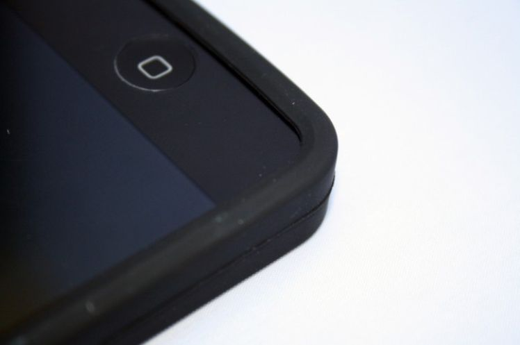 iPhone 4/4s szilikon hátlap fekete SMART