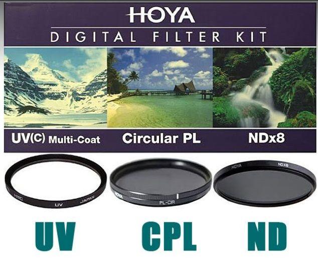 Hoya Digital Filter Kit UV,CPL,ND 49mm szűrőkkel