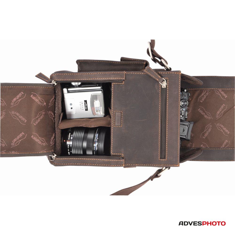 Kalahari Fotós táska bőr KAAMA L-19 ae06501e07