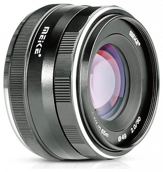 Meike 50mm f / 2.0 fix objektív Panasonic tükör nélküli fényképezőgéphez